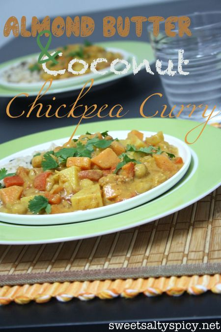 Almond Butter & Coconut Chickpea Curry | Chickpeas and Chicken | Pint ...