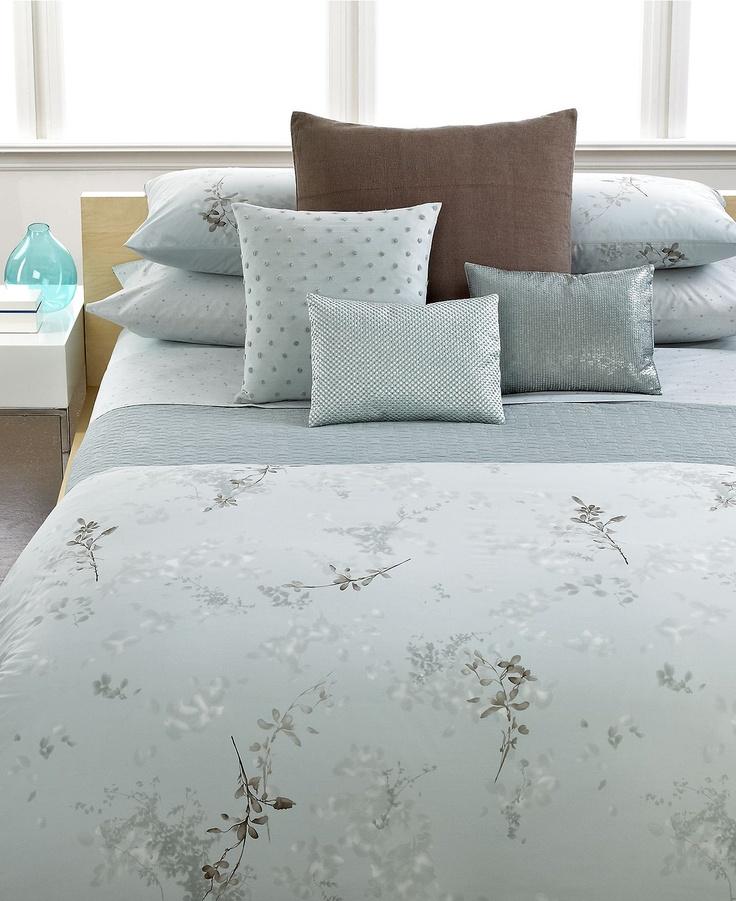 Calvin klein home tinted wake bedding collection Calvin klein bedding
