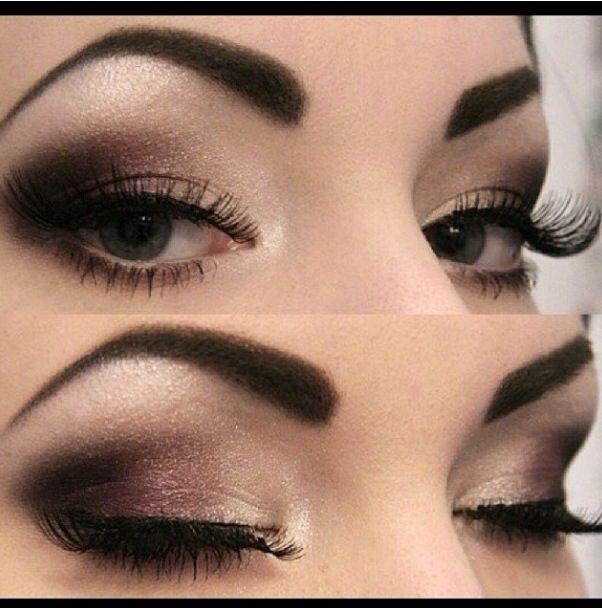 Dramatic brown smokey eye, makeup look Makeup Pinterest