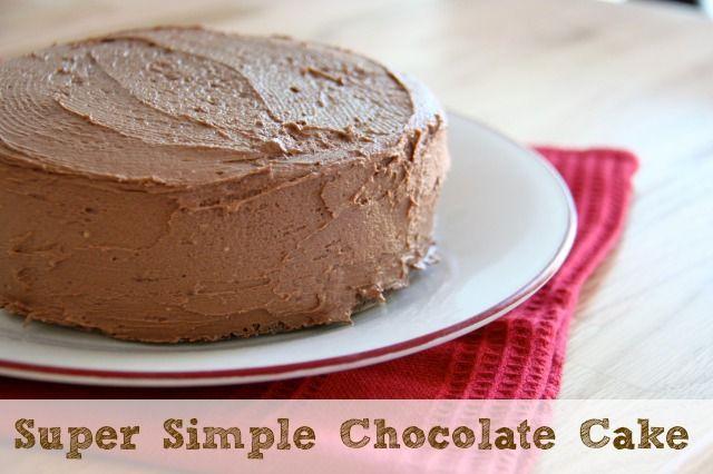 Super Simple Chocolate Cake Recipe :: Five Little Homesteaders