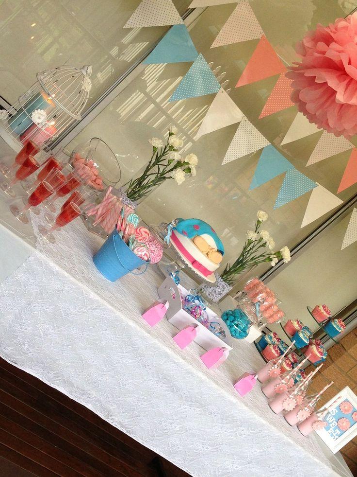 baby shower unknown gender pink blue baby shower pinterest