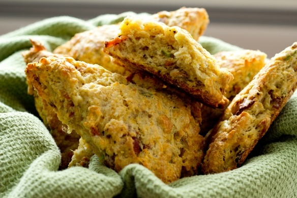 Pastry Queen's Bacon and Cheddar Scones. | Breads | Pinterest