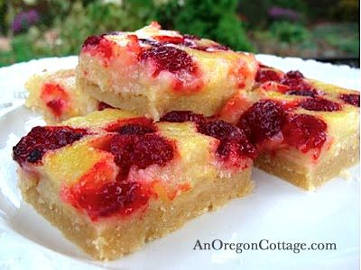 Recipe For Lemon Raspberry Bars | So here I am posting this decidedly ...