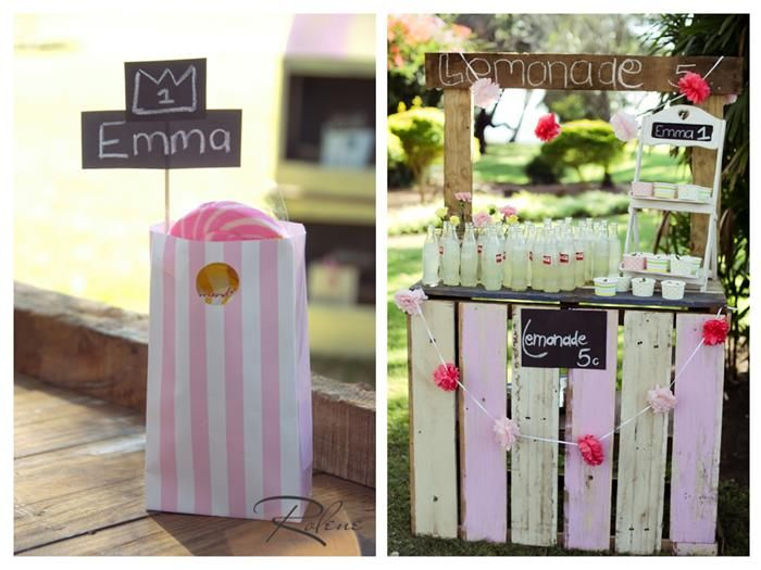 Pink lemonade stand birthday party planning ideas supplies for Cool lemonade stand ideas