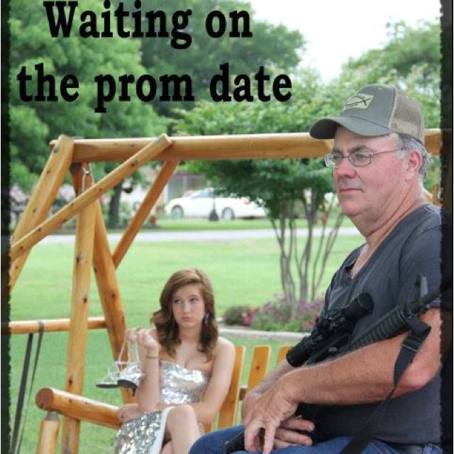 Waiting on the prom date! lol