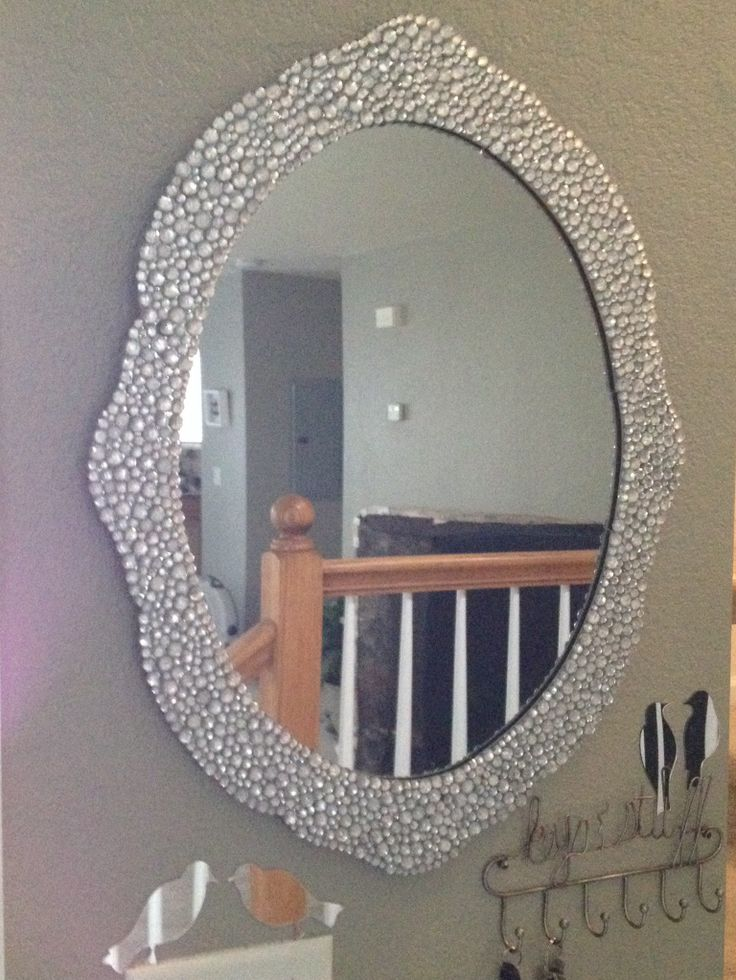 Beautiful sparkly jeweled mirror gem mirror makeover for Floor mirror italian baroque rococo style in lacquer finish