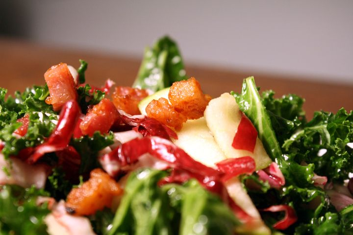 Kale, Apple and Pancetta Salad | In A Pinch | Pinterest