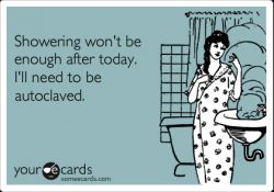 A nurse's shower. #Autoclave #Nurses #NurseHumor