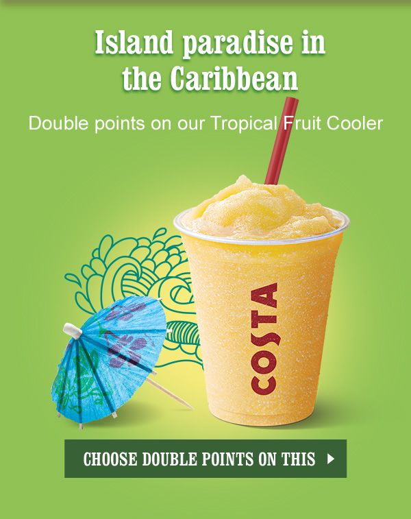 Tropical fruit cooler | Coffee Shop | Pinterest