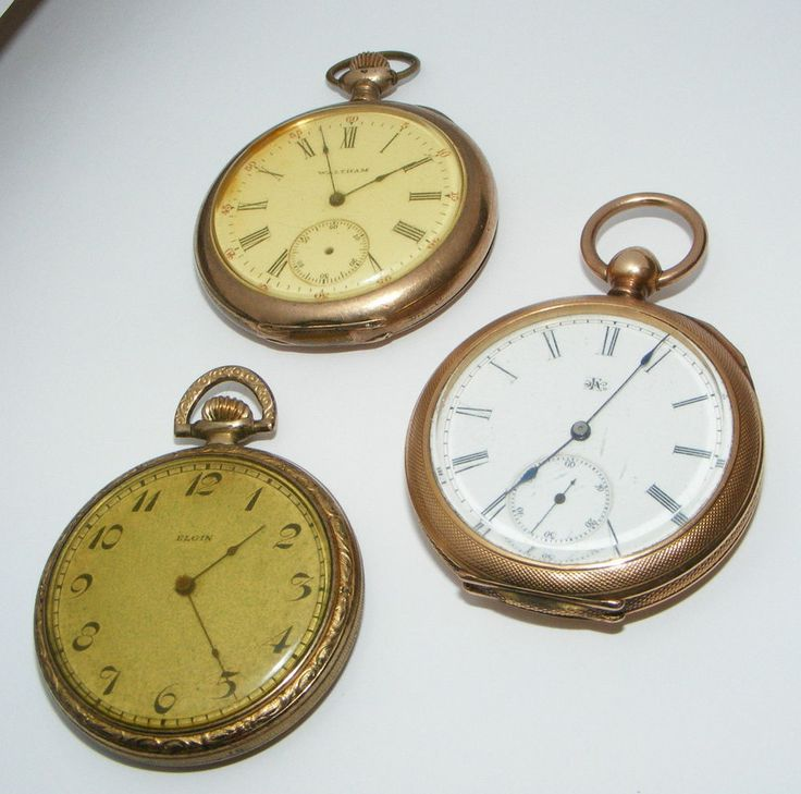 lot of 3 vintage pocket watches for repair parts pocket