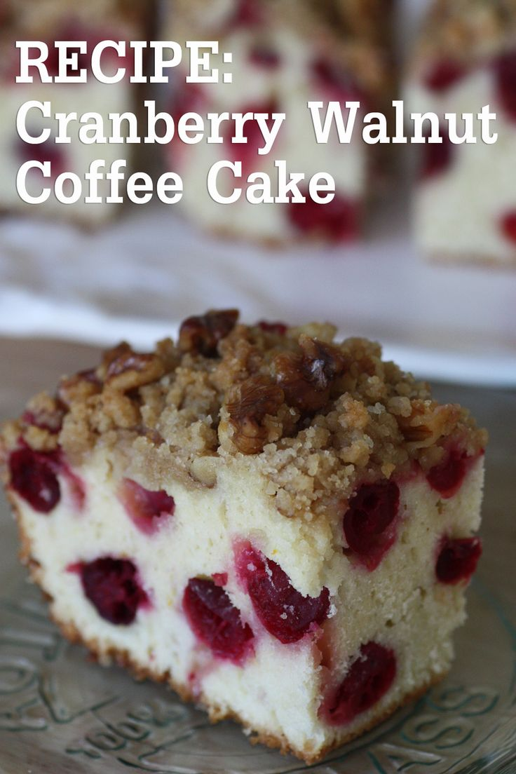 coffee cake the best coffee cake ever cranberry coffee cake w vanilla ...