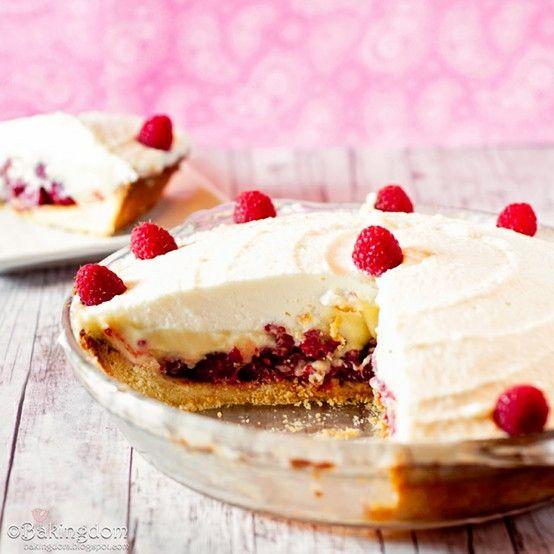 Raspberry vanilla cream pie by amie | Desserts | Pinterest