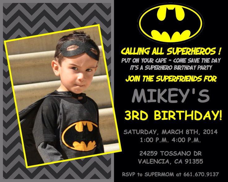 Batman Invitations Templates is adorable invitations example