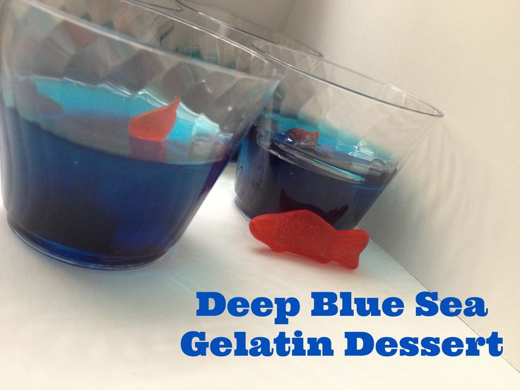 ... for deep blue sea gelatin dessert cups aka Blue Jello Fish Bowls