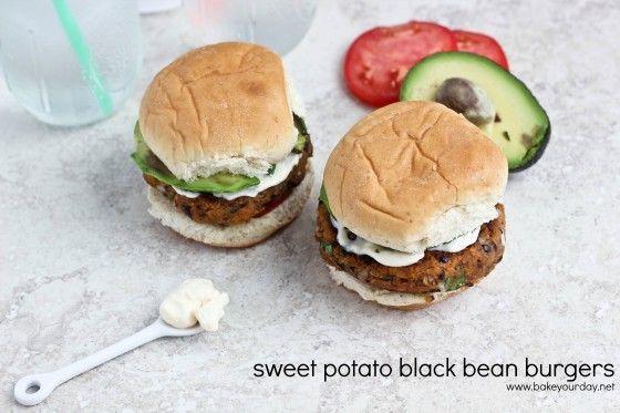 Sweet Potato Black Bean Burgers | bakeyourday.net #burgers # ...