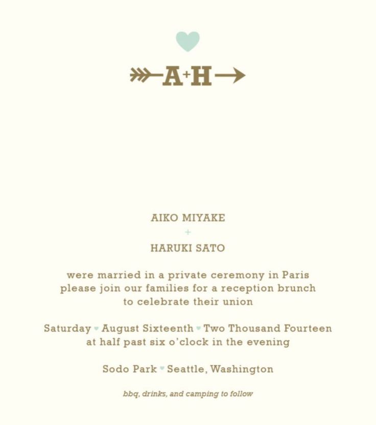 We Eloped Party Invitations for beautiful invitations sample