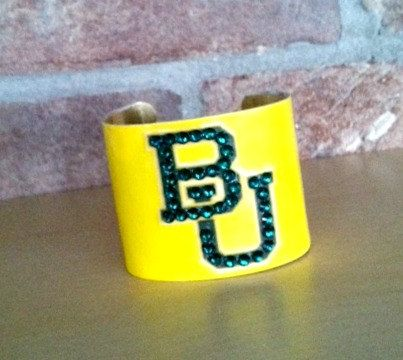 #Baylor University Team Cuff (from Etsy)
