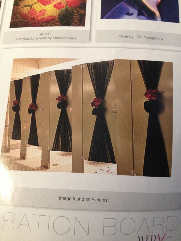 Bathroom Decorations For Wedding : Decorate bathroom stall doors for your wedding