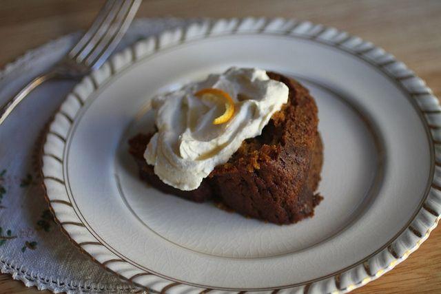 Pumpkin Bundt Cake with Maple Bourbon Whipped Cream