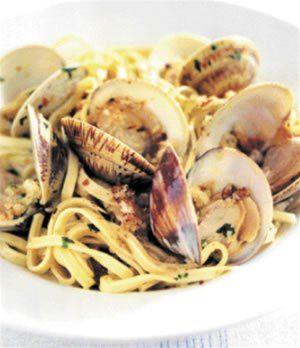 Mario Batali's Linguine w/ Manila Clams, Pancetta and Hot Chiles