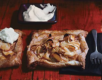 Rustic Apple Tarts Rustic Apple Tarts with Calvados Whipped Cream ...
