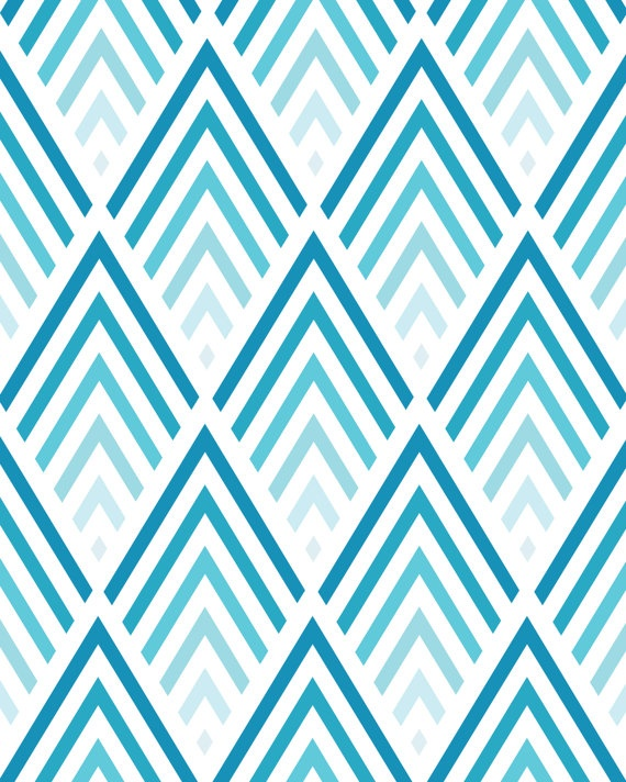 Shades of Blue Chevron Pattern 8x10 inch Art by PrissDesigns: pinterest.com/pin/440156563551728522