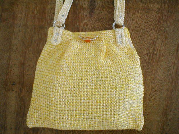 Tunisian Crochet Patterns Bags : Tunisian+Crochet+Product Tunisian crochet shoulder bag - Clare