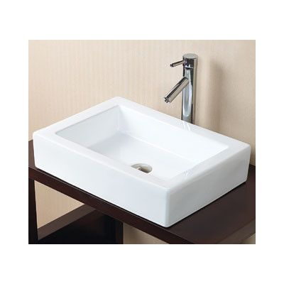 Rectangular Vessel Sink With Overflow : Ronbow Rectangle Ceramic Vessel Bathroom Sink without Overflow ...