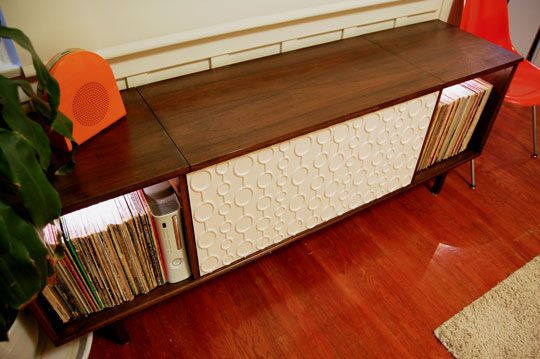 ... new DIY obsession: refurbishing and updating a vintage stereo cabinet