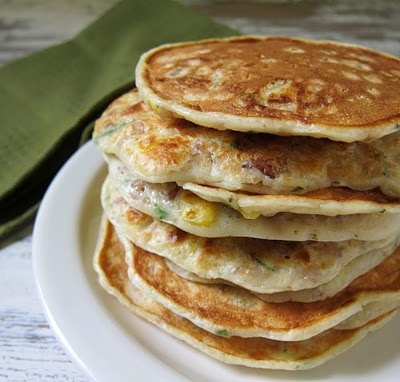 corn & wild rice pancakes from bobby flay's bold american food