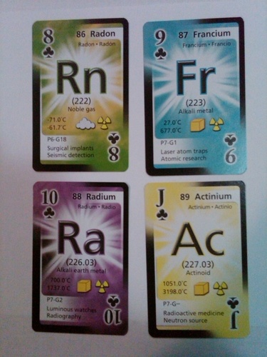 periodic table trading card game