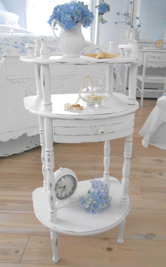 table shabby chic painted furniture end table night table