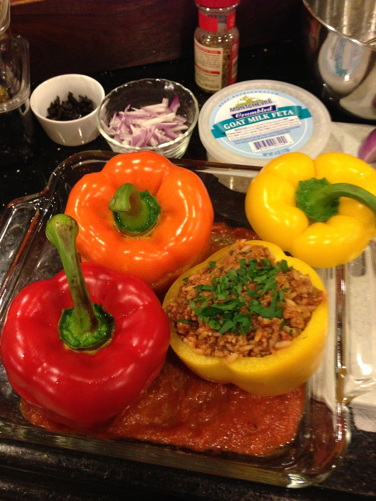 My incredibly gifted dad's Lamb stuffed bell peppers with Peruvian ...