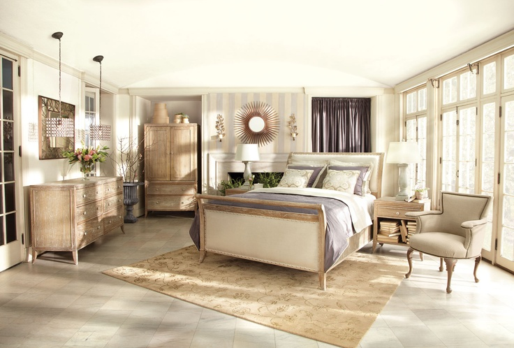 Arhaus Furniture. I just purchased this bedroom set. The light wood ...