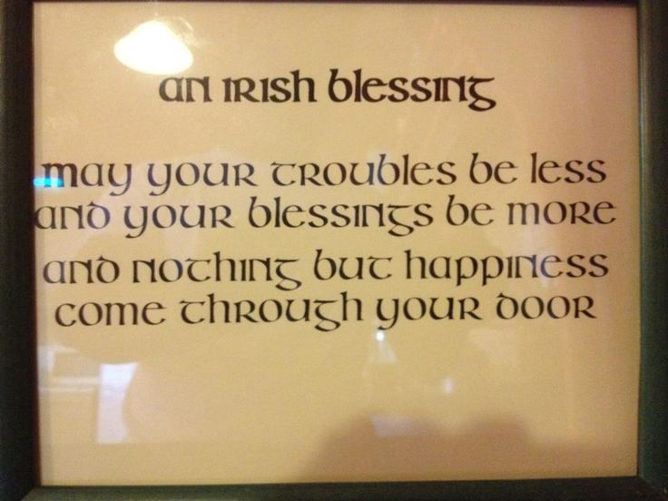 Love this Irish saying