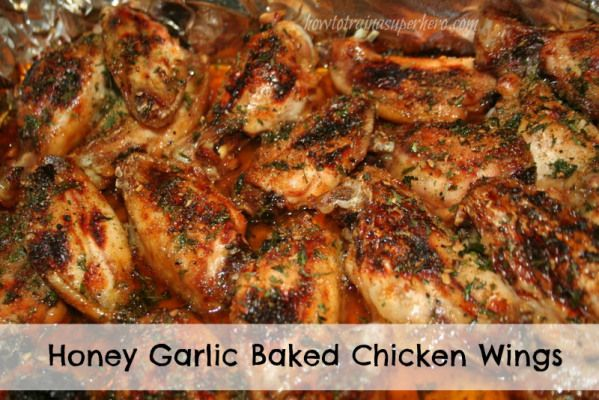 Honey Garlic Baked Chicken Wings | Dinner with us | Pinterest