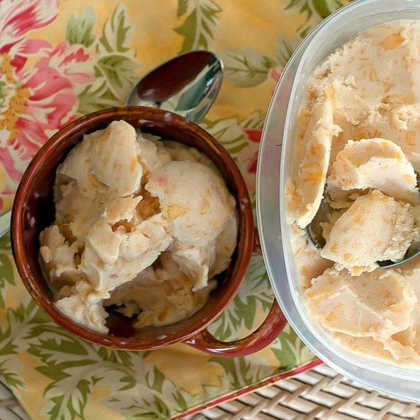 Peaches 'n Cream ice cream | Yummy in my Tummy | Pinterest
