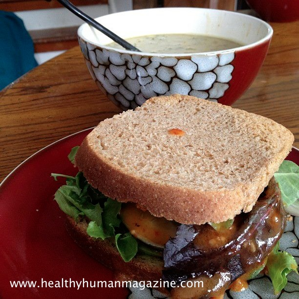 ... on Spelt Bread served with White Bean Coconut Lemongrass Kale Soup