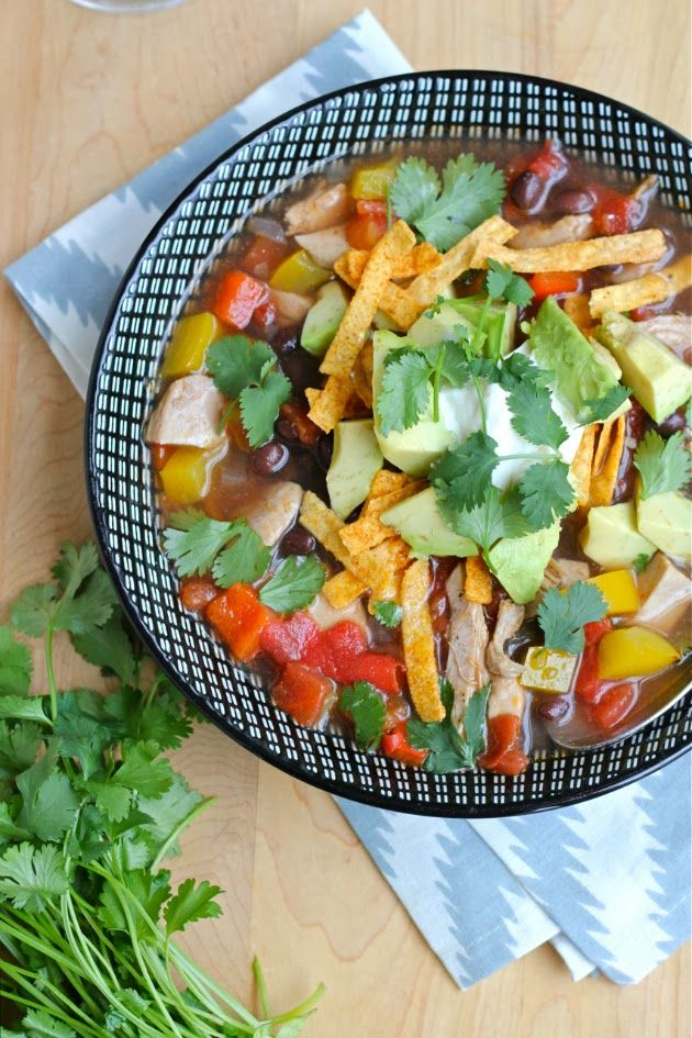 Your Southern Peach: Chicken Tortilla Soup