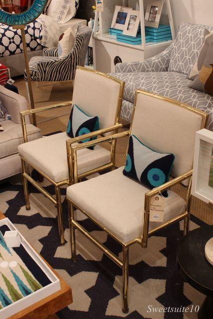 Jonathan Adler - Brass Bamboo Chairs