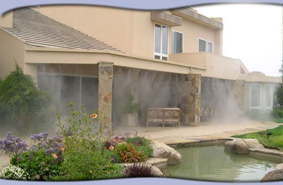patio misters in the yard pinterest