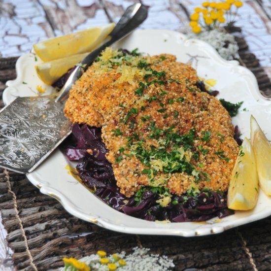 paleo gluten-free take on the German classic Chicken Schnitzel. Made ...