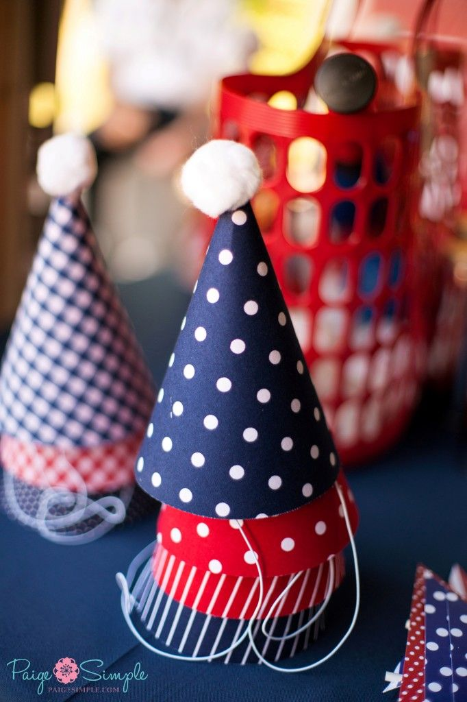 {Nautical First Birthday Party Ideas} Of course all the guests need a party hat! #firstbirthday
