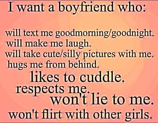 Qualities a girl wants in a guy