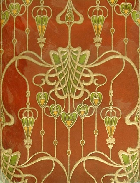 birge wallpaper sample 1904 art nouveau