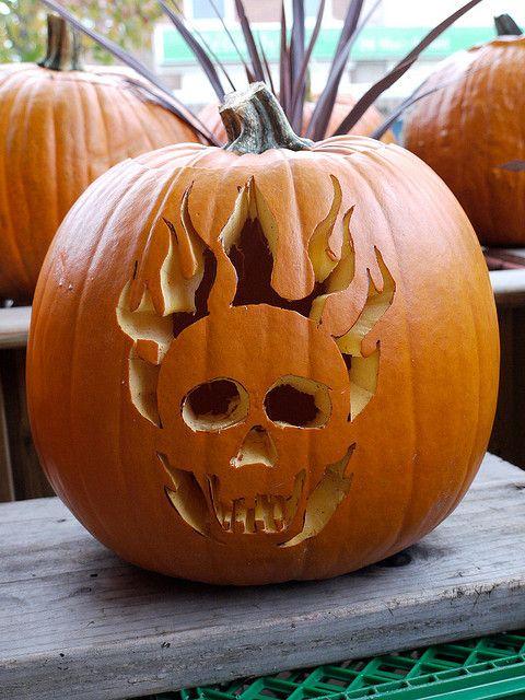 Pumpkin carving skull bing images