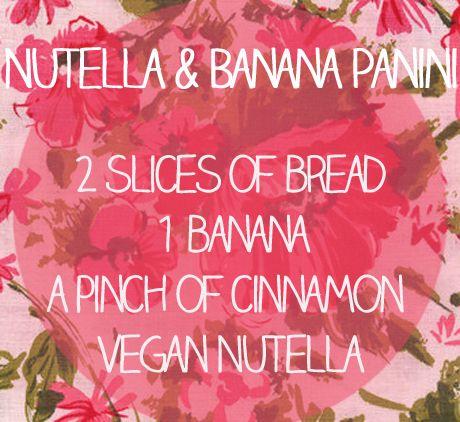 Nutella & Banana Panini http://www.veganhousewives.com/nutella-banana ...