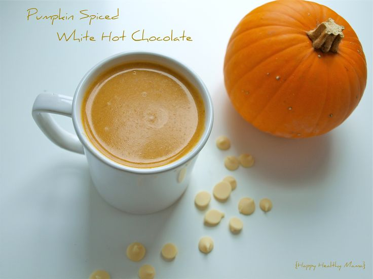 Pumpkin spiced white hot chocolate   Drinks to Try   Pinterest
