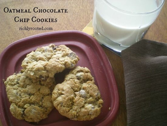 Oatmeal Chocolate Chip Cookies - Richly Rooted