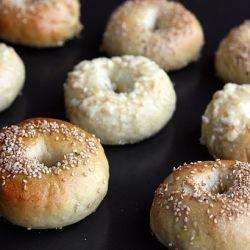 Peter Reinhart's bagels - whatever topping you use, they're guarantee...